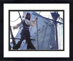 Johnny Depp Signed 11X14 Photo w/ Graded 10 Autograph! PSA/DNA #W04428