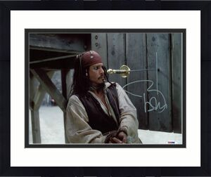 Johnny Depp Signed 11X14 Photo W/ Graded 10 Autograph! PSA/DNA #W04430