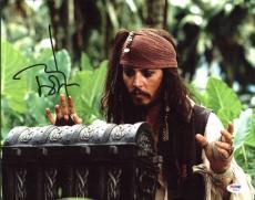 Johnny Depp Signed 11X14 Photo w/ Graded 10 Autograph! PSA/DNA #W04437