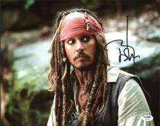 Johnny Depp Signed 11X14 Photo w/ Graded 10 Autograph! PSA/DNA #W04439