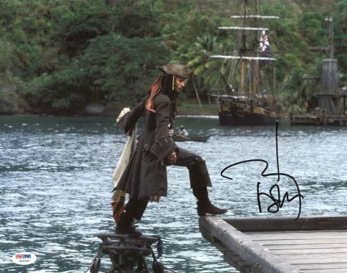 Johnny Depp Signed 11X14 Photo w/ Graded 10 Autograph! PSA/DNA #W04445