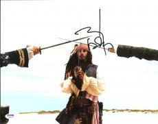 Johnny Depp Signed 11X14 Photo w/ Graded 10 Autograph! PSA/DNA #W04450
