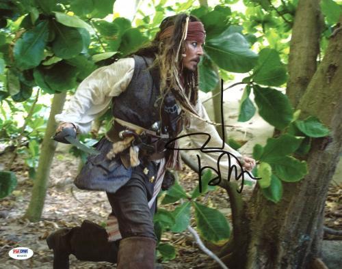 Johnny Depp Signed 11X14 Photo w/ Graded 10 Autograph! PSA/DNA #W04465