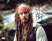 Johnny Depp Signed 11X14 Photo w/ Graded 10 Autograph! PSA/DNA #W04468