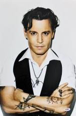 Johnny Depp Signed 12x18 Photo Autographed PSA/DNA #S99573
