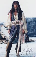 Johnny Depp SIGNED 12x18 Photo Captain Jack Pirates of the Caribbean PSA/DNA