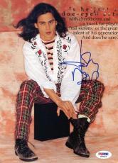 Johnny Depp Signed 7.5X10.5 Magazine Page Photo PSA/DNA #J00423