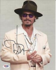 JOHNNY DEPP Signed 8 x10 PHOTO with PSA/DNA COA