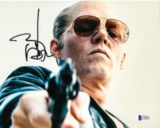 Johnny Depp Signed 8x10 Photo Black Mass Authentic Autograph Beckett Coa
