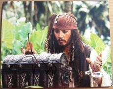 Johnny Depp signed 8x10 photo Captain Jack Sparrow Pirates of Caribbean PSA/DNA