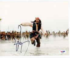 Johnny Depp signed 8x10 photo Captain Jack Sparrow Pirates of Caribbean PSA/DNA