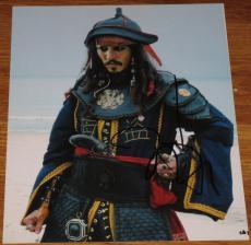 Johnny Depp Signed 8x10 Photo Pirates Of The Caribbean Autograph Coa D