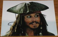 Johnny Depp Signed 8x10 Photo Pirates Of The Caribbean Autograph Coa E
