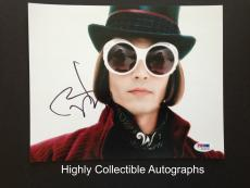 Johnny Depp Signed 8x10 Photo Psa Dna Coa Charlie And The Chocolate Factory