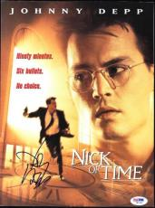 Johnny Depp Signed 9X12 Nick Of Time Program PSA/DNA #I81983