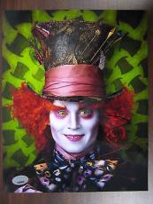 Johnny Depp Signed 'Alice in  Wonderland' Authentic 8x10 Photo (PSA/DNA) #J64855