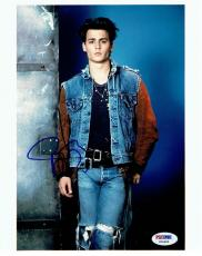 Johnny Depp Signed Authentic Autographed 8x10 Photo PSA/DNA #X06665
