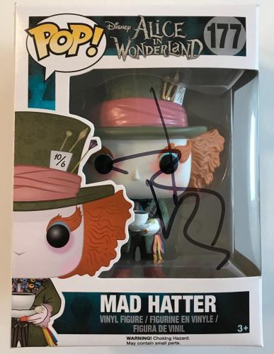 JOHNNY DEPP signed authentic MAD HATTER (Alice in Wonderland) Funko Pop figure