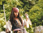 Johnny Depp Signed Pirates of the Caribbean 11x14 Photo PSA/DNA COA Picture Auto