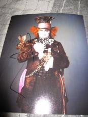 JOHNNY DEPP SIGNED AUTOGRAPH 8x10 ALICE IN WONDERLAND PHOTO RARE PROMO COA M