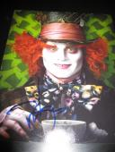 JOHNNY DEPP SIGNED AUTOGRAPH 8x10 PHOTO ALICE IN WONDERLAND IN PERSON COA NY X5