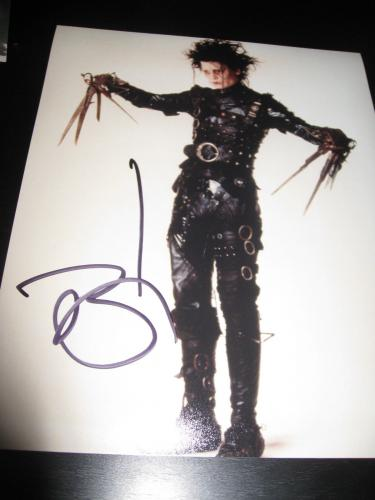 JOHNNY DEPP SIGNED AUTOGRAPH 8x10 PHOTO EDWARD SCISSORHANDS IN PERSON COA NY D1