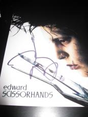 JOHNNY DEPP SIGNED AUTOGRAPH 8x10 PHOTO EDWARD SCISSORHANDS IN PERSON COA NY D5