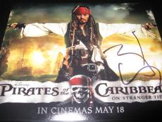 JOHNNY DEPP SIGNED AUTOGRAPH 8x10 PHOTO PIRATES OF THE CARIBBEAN IN PERSON COA J