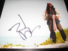 JOHNNY DEPP SIGNED AUTOGRAPH 8x10 PHOTO PIRATES OF THE CARIBBEAN IN PERSON N7 X9