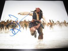 JOHNNY DEPP SIGNED AUTOGRAPH 8x10 PHOTO PIRATES OF THE CARIBBEAN PROMO COA NY X2