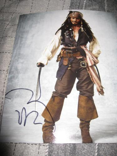 JOHNNY DEPP SIGNED AUTOGRAPH 8x10 PIRATES OF THE CARIBBEAN PROMO IN PERSON COA J