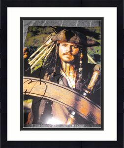 JOHNNY DEPP SIGNED AUTOGRAPH 8x10 PIRATES OF THE CARIBBEAN PROMO IN PERSON COA K