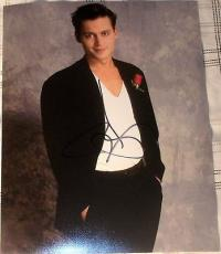 Johnny Depp Signed Autograph Clean Cut Casual Stud In Sexy Suit 8x10 Photo Coa