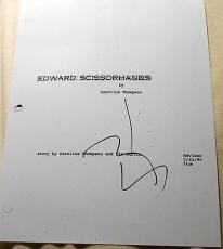 "Johnny Depp Signed Autograph ""edward Scissorhands"" 117 Page Movie Script + Coa"