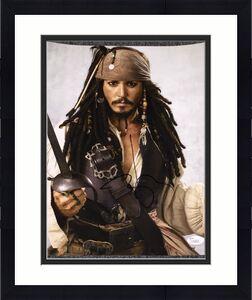 "Johnny Depp Signed Autograph ""pirates"" Classic Jack Sword 11x14 Photo Jsa L74053"