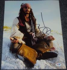 "Johnny Depp Signed Autograph ""pirates Of Caribbean"" 11x14 Photo Psa/dna W55733"