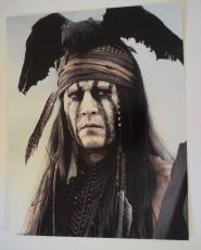 Johnny Depp Signed Autographed 11x14 Photo The Lone Ranger COA VD