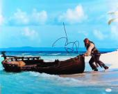 Johnny Depp Signed Autographed 16X20 Photo Pirates of the Caribbean JSA S79356