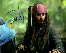 Johnny Depp Signed Autographed 8x10 Pirates Photo AFTAL