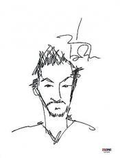 Johnny Depp Signed Autographed Art Original Sketch 8x10 PSA/DNA Authentic