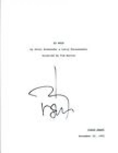 Johnny Depp Signed Autographed ED WOOD Full Movie Script COA VD