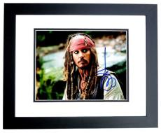 Johnny Depp Signed - Autographed Pirates of the Caribbean 8x10 inch Photo - BLACK CUSTOM FRAME - Guaranteed to pass PSA/DNA or JSA - Captain Jack Sparrow