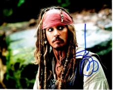 Johnny Depp Signed - Autographed Pirates of the Caribbean 8x10 inch Photo - Guaranteed to pass PSA/DNA or JSA - Captain Jack Sparrow