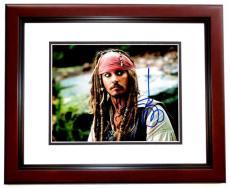 Johnny Depp Signed - Autographed Pirates of the Caribbean 8x10 inch Photo - MAHOGANY CUSTOM FRAME - Guaranteed to pass PSA/DNA or JSA - Captain Jack Sparrow