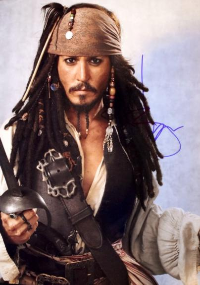 Johnny Depp Signed - Autographed Pirates of the Caribbean - Captain Jack Sparrow 11x14 inch Photo - Guaranteed to pass BAS