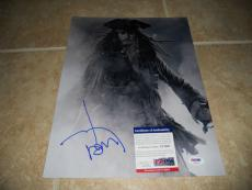 Johnny Depp Signed Autographed Sexy Pirates 11x14  Photo PSA Certified