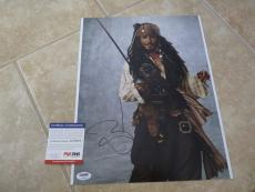 Johnny Depp Signed Autographed Sexy Pirates 11x14  Photo PSA Certified #3