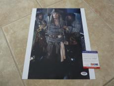 Johnny Depp Signed Autographed Sexy Pirates 11x14  Photo PSA Certified #4