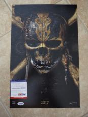 Johnny Depp Signed Autographed Sexy Pirates 11x17 Photo PSA Certified