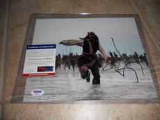 Johnny Depp Signed Autographed Sexy Pirates 8x10  Photo PSA Guaranteed #1